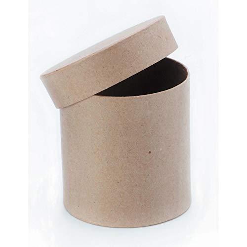 Darice Paper Mache Box Round with Lid 4 x 4 inch (3-Pack) 2805-46FCAS