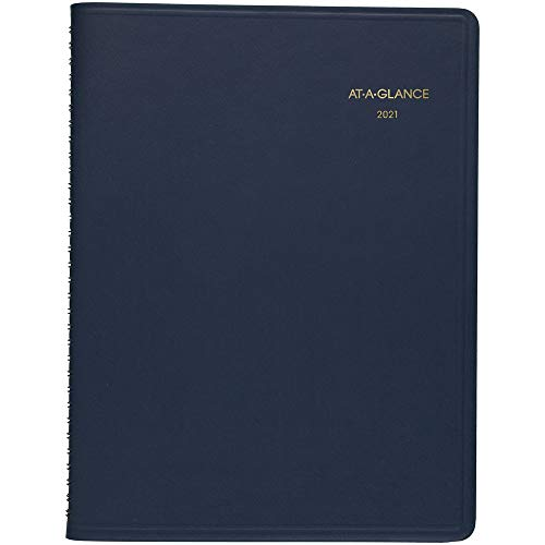 2021 Weekly Appointment Book & Planner by AT-A-GLANCE, 8-1/4' x 11', Large, Navy (709502021)