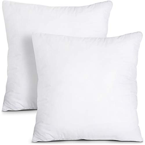 Utopia Bedding Throw Pillows Insert (Pack of 2, White) - 16 x 16 Inches Bed and Couch Pillows - Indoor Decorative Pillows