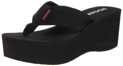Rocket Dog Women's Crush Platform Thong Sandal,Black,9 M