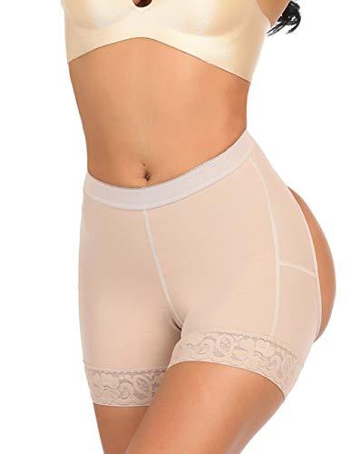 Firm Hip Lifting Underpants Body Shaper Butt enhancer Panty Shapewear Boyshorts Nude S