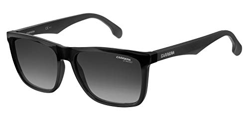 Carrera Men's CA5041/S Rectangular Sunglasses, BLACK/DARK GRAY GRADIENT, 56 mm