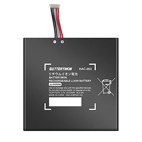 BatteryMon HAC-003 Battery Repalcement for Switch 2017 Game Console HAC-001 HAC-A-BPHAT-C0 HAC-S-JP/EU-C0 (3.7V 16Wh)