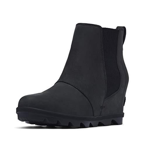 Sorel Women's Joan of Arctic Wedge II Chelsea Boots, Black, 8 Medium US
