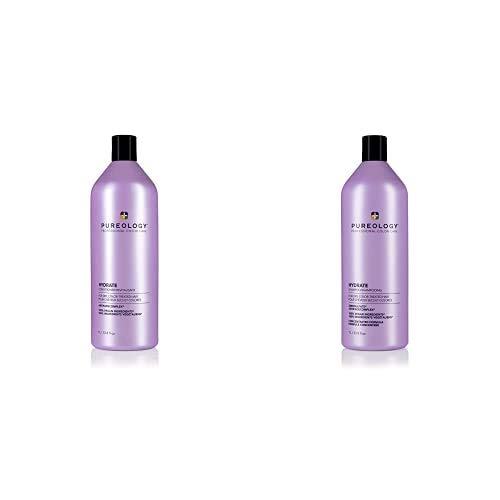 Pureology Hydrate Moisturizing Shampoo & Conditoner Bundle | For Dry, Color Treated Hair | Sulfate-Free | Vegan | Updated Packaging | 33.8 Fl. Oz.