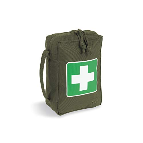 Tasmanian Tiger First Aid Pouch, Tactical MOLLE Medical Pouch, First Aid Bag, Fully Opening Zipper, Small, Olive