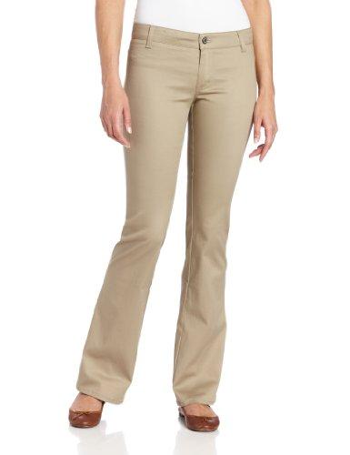 Dickies Girl womens Worker Boot Cut Pant,Khaki,5