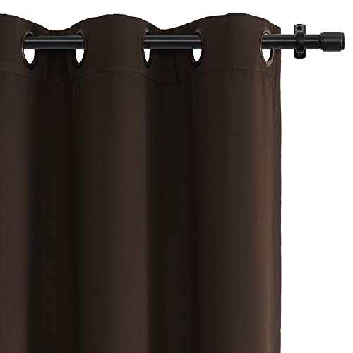 Rose Home Fashion RHF Function Curtain-Blackout Curtains 96 inch,Bedroom Curtains Blackout Curtain Panels&96' Curtains,Vertical Blinds,Grommet Curtains(Chocolate-52 by 96 Inches)