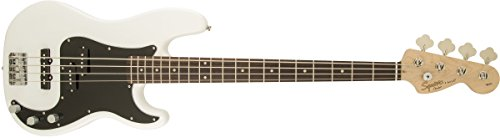 Squier by Fender Affinity Series Precision Beginnger Electric Bass - PJ - Olympic White