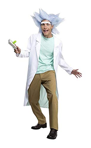LF Centennial Pte. Adult Rick and Morty Deluxe Rick Costume with Wig & Unibrow X-Large