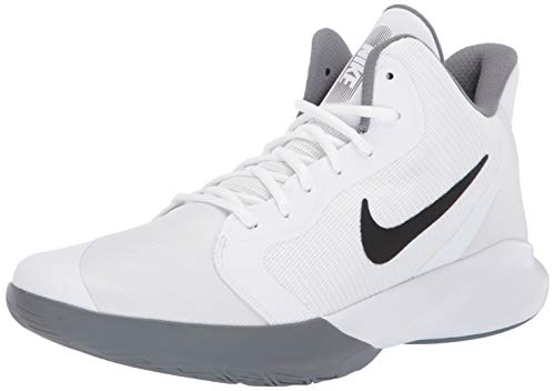 Nike Precision III Basketball Shoe, White/Black, 8 Regular US