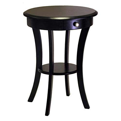 Winsome Wood Sasha Accent Table, Black