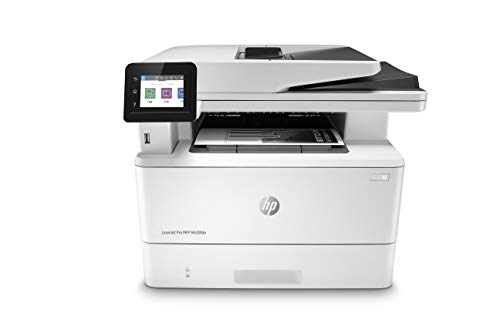 HP LaserJet Pro MFP M428fdn Monochrome Duplex Laser Printer, 38ppm, 1200x1200 dpi, 250 Sheet Standard Input Tray, USB 2.0 and Ethernet Connectivity - Print, Scan, Copy, Fax, Email