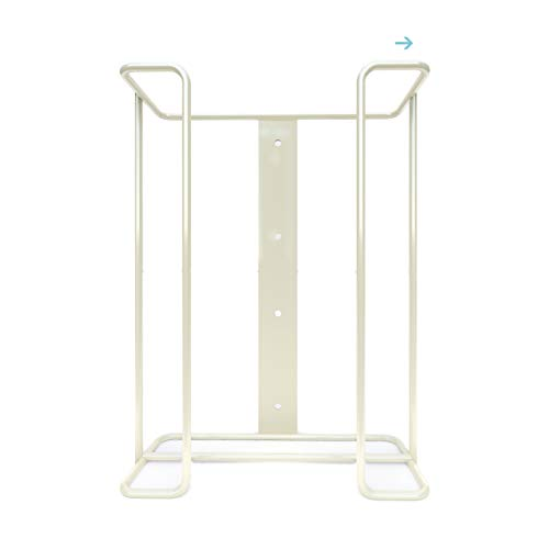 Safety Supply Mart Large Disposable Glove and Facial Tissue Wire Rack- Box Holder, Holds Up to 3 Boxes, Dispenser, Wall Mount Design with Mounting Accessories Included