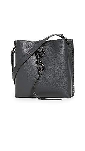 Rebecca Minkoff Women's Megan Small Feed Bag, Deep Slate, Grey, One Size