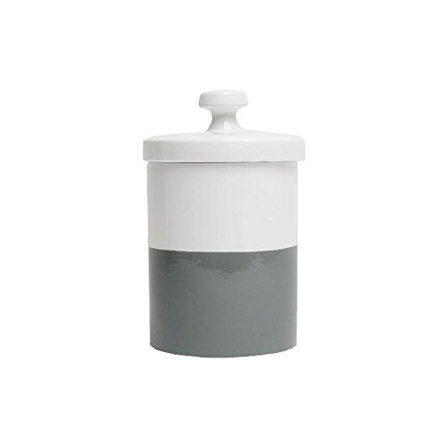 Waggo Dipper Ceramic Dog Treat Jar Heavyweight Durable Designer Dog Treat and Cookie Jar (Dolphin)