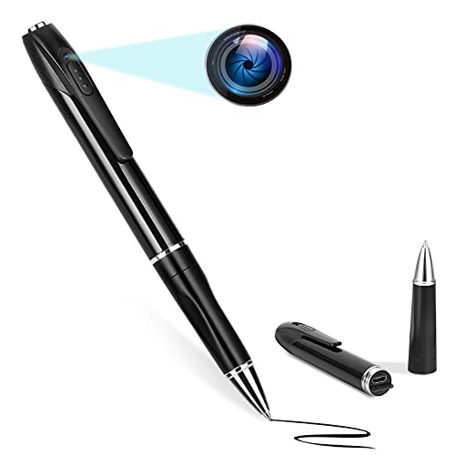 Hidden Spy Pen - Spy Cameras with Angle Lens, Mini Camera with 1080P - Spy Cam with Loop Recording - for Kids, Baby, Pet Record Camera(Blue Lens)