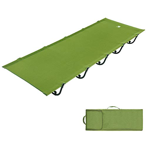EVER ADVANCED Folding Camping Cot Portable Compact Tent Bed for Camping,Fishing,Outdoor Travel, Support 250lbs