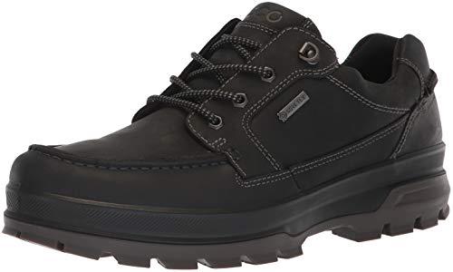 ECCO Men's Rugged Track Gore-TEX Moc Tie Hiking Shoe, black, 41 M EU (7-7.5 US)