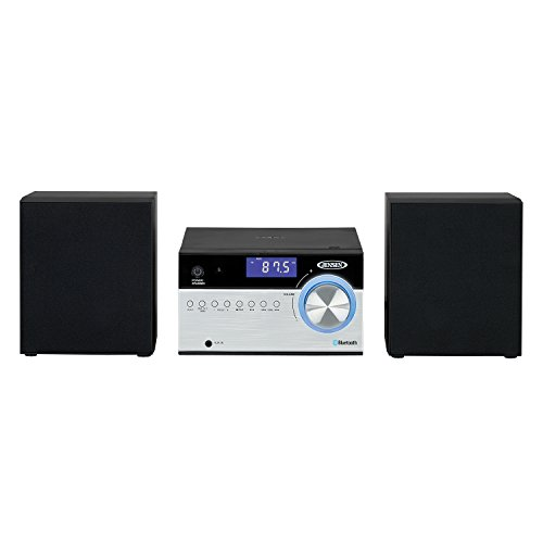 Jensen JBS-200 Bluetooth CD Music System with Digital AM/FM Stereo Receiver and Remote Control 2',Black