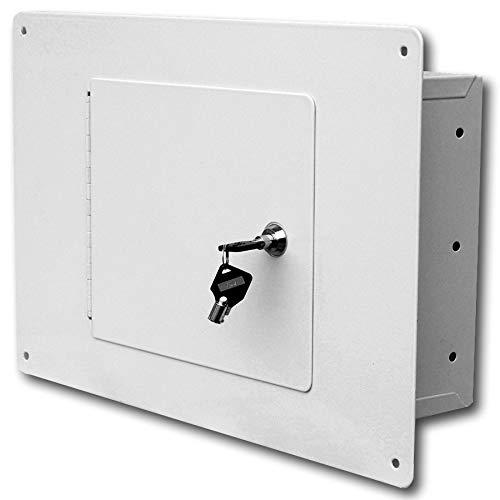 First Watch - Homak Between the Studs High Security Steel Wall Safe, White, WS00017001