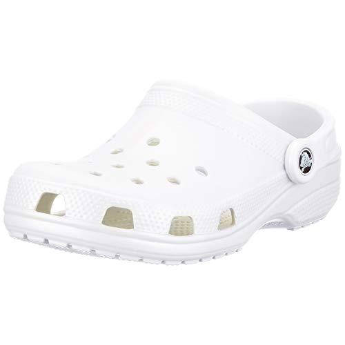 Crocs Classic Clog | Water Comfortable Slip On Shoes, White, 8 Women/6 Men