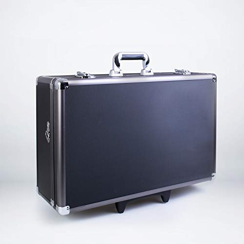 Zeikos ZE-HC52 Large Rolling Hard Case with Extra Padding Foam for Cameras - Travel, and Storage Case Camera, Gear, Equipment, and Lenses - Canon, Nikon, Sony Alpha, and Many More DSLR Cameras