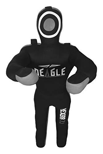 Deagle MAXERR 7.1 MMA Punching Grappling Kicking Throwing Hanging Dummy Wrestling BJJ Practice (Black/Gray, 6FT)