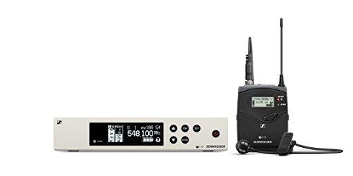 Sennheiser Pro Audio Sennheiser EW 100-ME4 Wireless Cardioid Lavalier Microphone System-A Band (516-558Mhz), 100 G4-ME4-A
