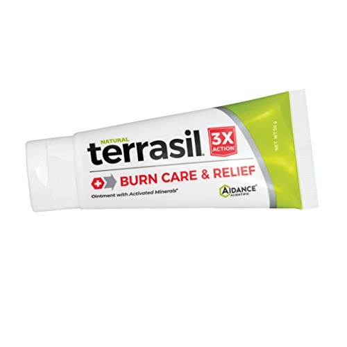 Burn Cream by Terrasil - Natural Gentle Burn Ointment with Advanced Healing for Minor to Medium Burns and Sunburns - 50g Tube
