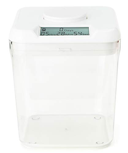 Kitchen Safe : Time Locking Container (White Lid + 5.5' Clear Base), As Seen on Shark Tank