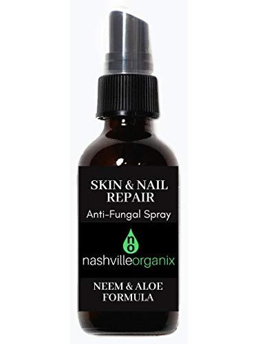 Dr. A's Skin & Nail Repair Spray | Natural Fungus Treatment With Organic Aloe Vera, Neem Oil, Witch Hazel & Essential Oils Tea Tree, Oregano & Lemon | Toenail, Fingernail & Athlete's Foot Solution