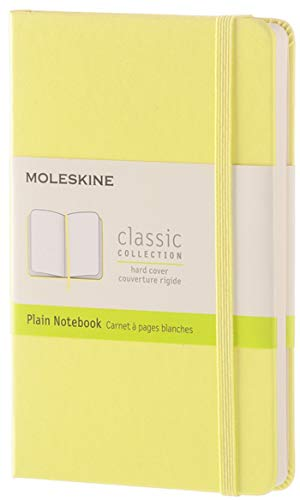 Moleskine Classic Notebook, Pocket, Plain, Citron Yellow, Hard Cover (8051272893670)