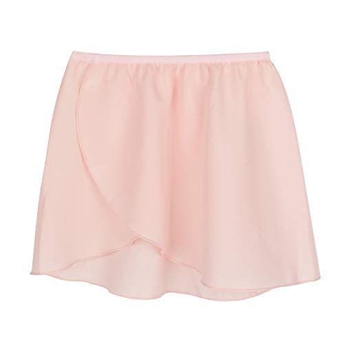 Bezioner Girls Ballet/Dance Wrap Skirt Chiffon Pull on Ballet Skirt Elastic Waist Women Pink M