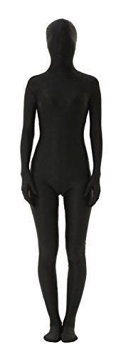 lttcbro Full Body Lycra Spandex Unisex Zentai Suit S Black