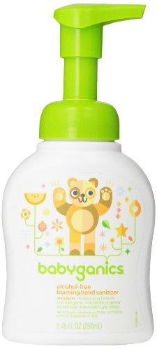 Babyganics Alcohol-Free Foaming Hand Sanitizer, Pump Bottle, Mandarin, 8.45 Fl Oz, Pack of 2