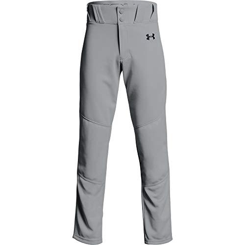 Under Armour Boys' Utility Relaxed Baseball Pants , Baseball Gray (080)/Black , Youth Medium