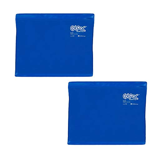 Chattanooga ColPac Reusable Gel Ice Pack Cold Therapy - Blue Vinyl - Standard - 11 in x 14 in - (2 Pack - Value Bundle)