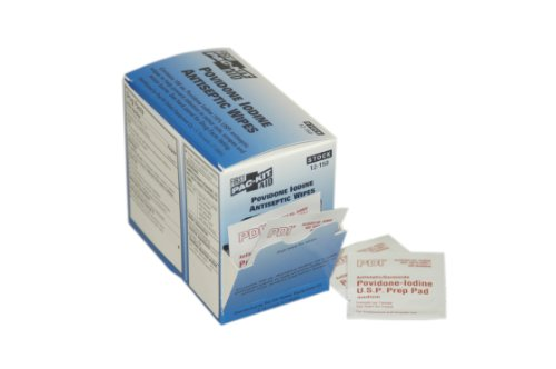 First Aid Only 12-150 Povidone Iodine First Aid Antiseptic Wipe (Box of 100)