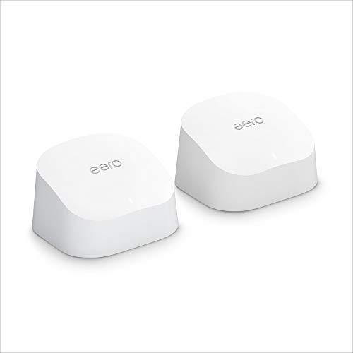 Introducing Amazon eero 6 dual-band mesh Wi-Fi 6 router, with built-in Zigbee smart home hub (1 router + 1 extender)