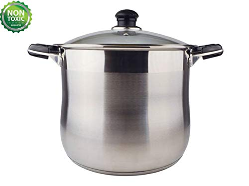 20 Quart Commercial Grade Stainless Steel High Stock Pot/Non-Toxic Cookware/Dishwasher Safe Heavy-Duty [Encapsulated Bottom Stockpot Dutch Oven]