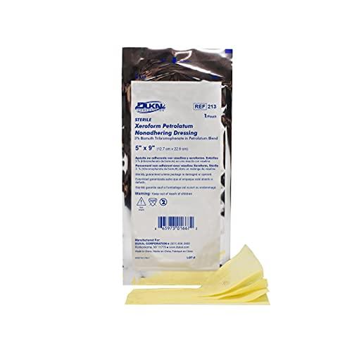 Dukal Xeroform Petrolatum Gauze, Sterile, 5' W x 9' L (Box of 50)
