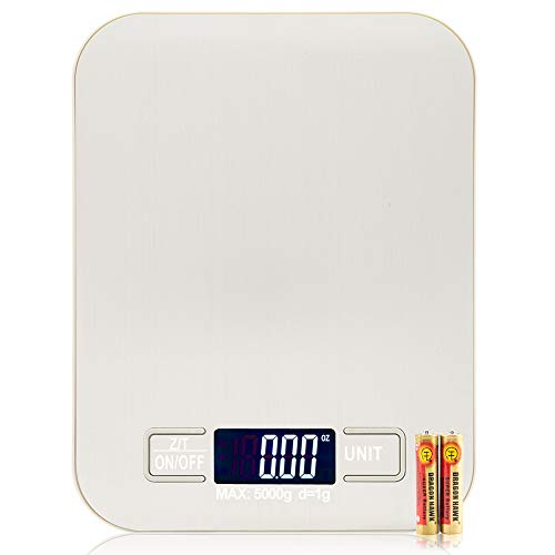 Electronic Digital Food Kitchen Scale, Multifunction Scale Measures in Grams and Ounces White