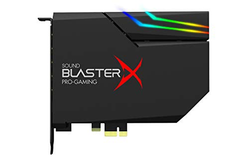 Creative Sound BlasterX AE-5 Plus SABRE32-class Hi-res 32-bit/384 kHz PCIe Gaming Sound Card and DAC with Dolby Digital and DTS, Xamp Discrete Headphone Bi-amp, Up to 122dB SNR, RGB Lighting System