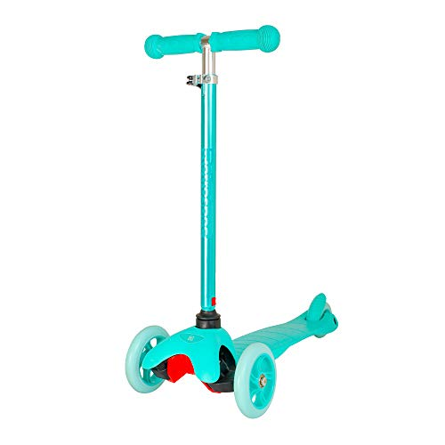 Retrospec Chipmunk 3-Wheel Kick Scooter for Kids, Toddlers, Girls and Boys with Padded Handlebars, PU Wheels, and Extra Wide Deck Perfect for Children, Aquamarine/Seafoam