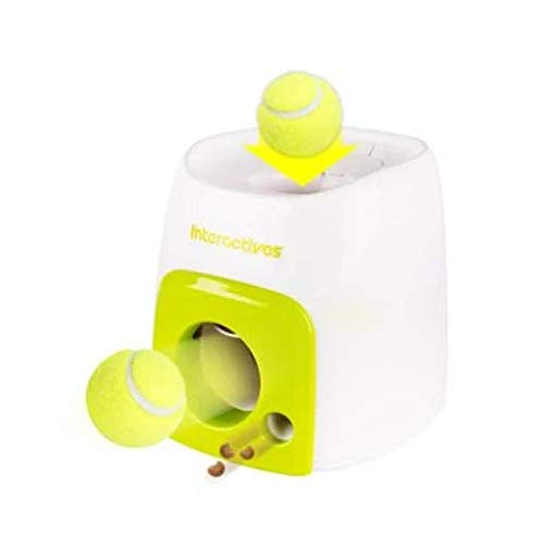 WiseWater Automatic Tennis Ball Launcher Dog Toy, Dog Feeder, Food Reward Machine Pet Toy, Authentic Tennis Ball Thrower - Interactive Toy for Dogs to Play and Train