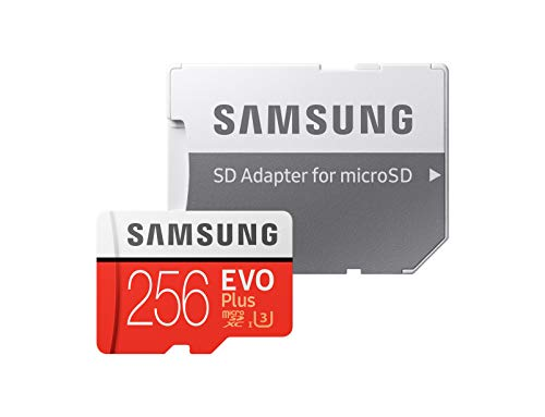 Samsung 256GB EVO Plus Class 10 UHS-I microSDXC U3 with Adapter (MB-MC256GA)