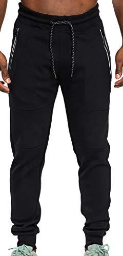 Southpole Mens Basic Power Fleece Jogger W/Zipper Pocket Pant, Adult, Black, M