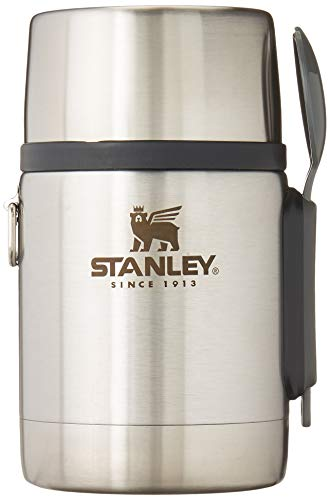 Stanley Classic Legendary Vacuum Insulated Food Jar 18 oz – Stainless Steel, Naturally BPA-Free Container – Keeps Food/Liquid Hot or Cold for 15 Hours – Leak Resistant, Easy Clean