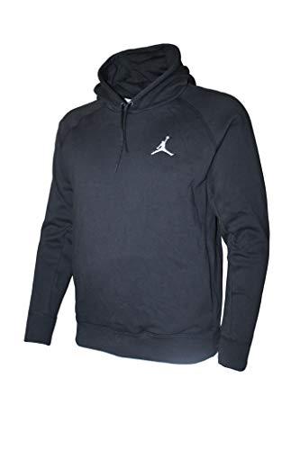 Mens Jordan Flight Pullover Hooded Sweatshirt (Black, Medium)